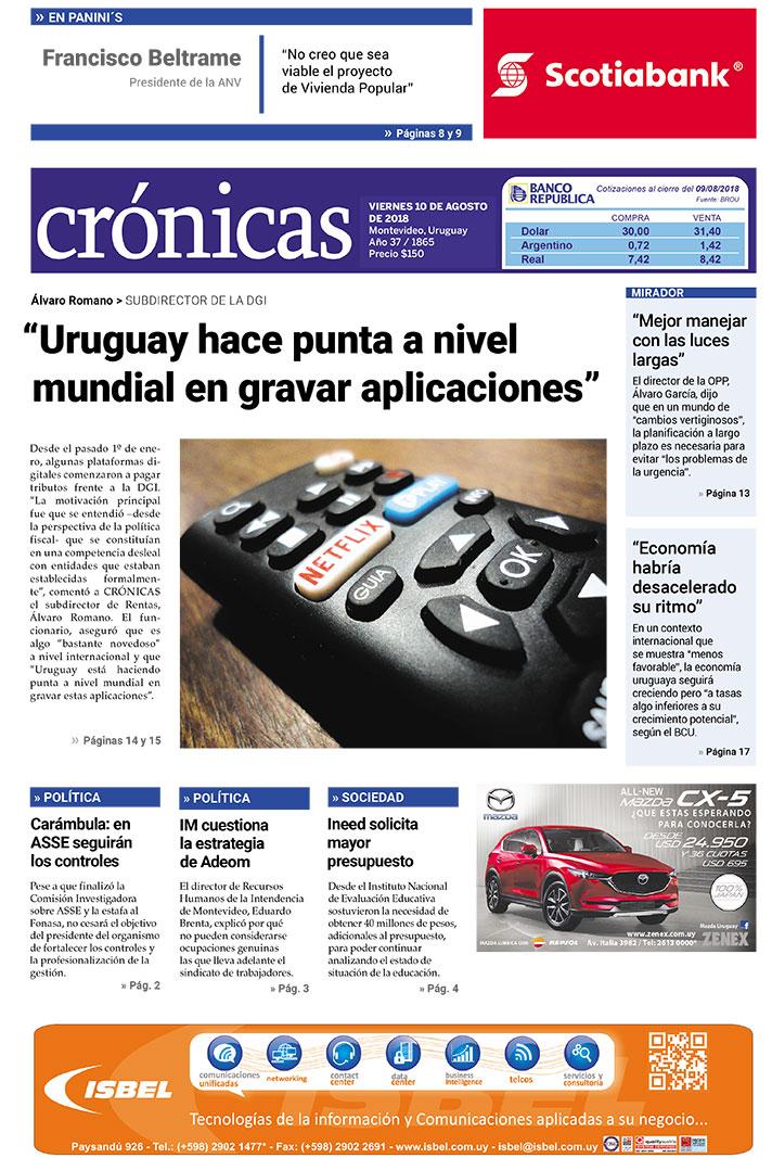 """78ffc5ed0b """"Uruguay hace punta a nivel mundial en gravar aplicaciones"""""""